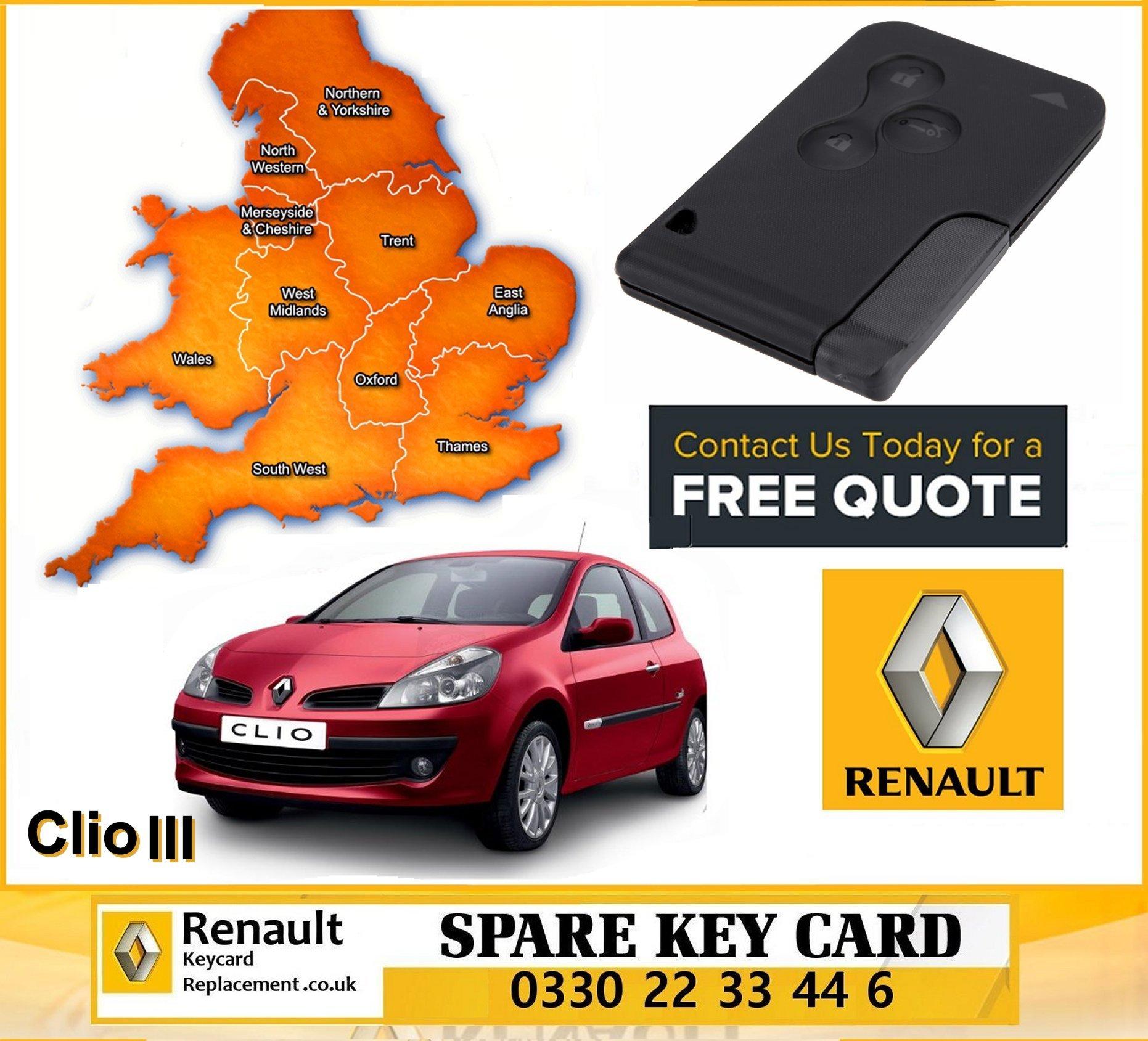 Renault Diagnostics Key Card Replacement